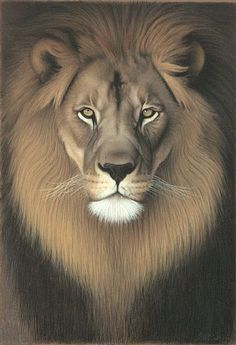 African Lion as historical icon - Painting - Nature Art by Charles ...