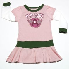 Rowdy Sprout Vintage Pink Aerosmith Long Sleeve Dress