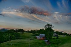 Sunset near Lewisburg, West Virginia West Virginia, Fine Art Photography, Trips, Country Roads, Urban, Mountains, Sunset, Landscape, Photos