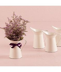 Create the perfect vintage vibe on your event with this decorative Mini Enamel Pitcher in the French Provincial Style. The aged miniature white pitcher is ideal for small floral arrangements or used as. Shabby Chic Rustique, Bodas Shabby Chic, Rustic Shabby Chic, Shabby Chic Homes, Shabby Chic Style, Catering, Decoupage, Provence Style, Wedding Table Decorations