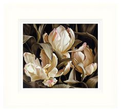 TROWBRIDGE - Mia Tarney - Libretto Parrot Tulips - Artist Mia Tarney is meticulous in her approach of her study of subtle shades, contrasts, forms and spaces throughout. She aims to capture the essence of her subject and allows it complete ownership of the canvas. By enlarging the scale, the nature of the subject is intensified and thus depicts concentrated areas to reveal a wall of life. </br></br>She was born in in 1973 and educated at Heatherley's School of Fine Art, London where she won…