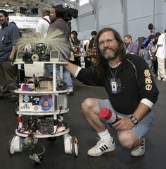 Me and Springy at RoboGames.