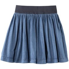 H&M Skirt ($20) ❤ liked on Polyvore featuring skirts, mini skirts, bottoms, saias, faldas, short mini skirts, short skirts, blue skater skirt, blue circle skirt and short flared skirts