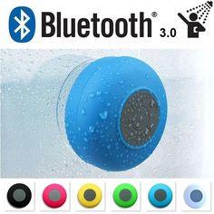 Bluetooth Car Bathroom Shower Speaker (Water Proof Hands Free Calling Mic  Radio)