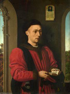 'Portrait of a Young Man' by Petrus Christus (1410-1475, Belgium)