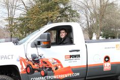 On-site delivery: because renting a shiny piece of construction equipment feels even greater when it's delivered right to your yard. #VIP http://compactpowerrents.com/onsite-delivery/