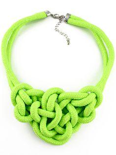 Collar elástico lazos-Verde EUR6.57