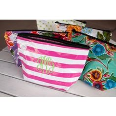 XL Oilcloth Cosmetic Bags -