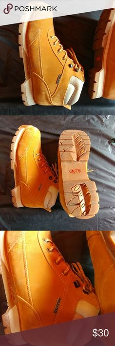 Men Lugz size 12 boots Slightly worn gold color men boots, also insulated. Lugz Shoes Boots
