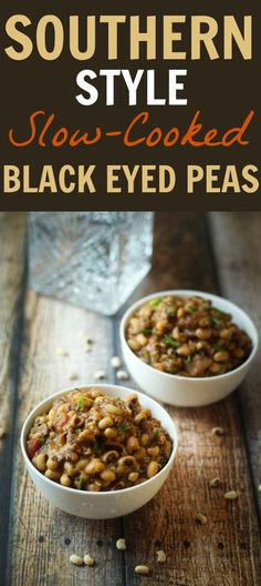 Traditional for New Year's Day (but delicious all year long!), Black Eyed Peas are creamy, comforting, and entirely crave-worthy!
