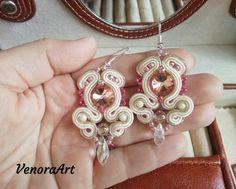 Shinning soutache earrings