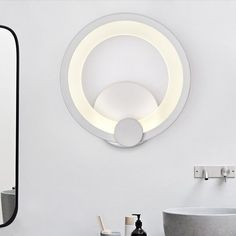 Modern Simplicity Style 10w Led Acrylic White LED Metal+Acrylic Diameter 19CM Living Room Bedroom Bedside Round Wall Lamp