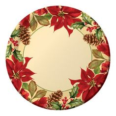 dinner plate for Christmas