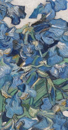 "spoutziki-art: ""Vincent van Gogh - Irises, 1890 (detail) The Metropolitan Museum of Art """