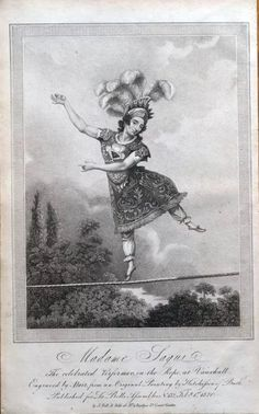 size: Giclee Print: Madame Saqui, the Celebrated Performer on the Rope at Vauxhall Gardens, London : Entertainment Historical Romance Novels, Poster City, City Painting, Country Paintings, New York Public Library, Travel Posters, Vintage Posters, Find Art, Framed Artwork