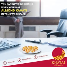 You can never go wrong when you have #AlmondKhatai in your workspace! #TehzeebBakers