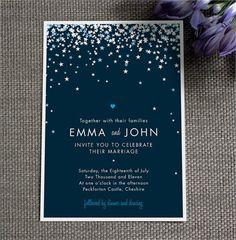 wedding invite blue