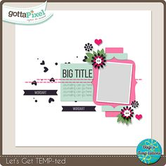 Let's get TEMPted Challenge ~ May 2015 @ gottapixel.net.  Use this free template
