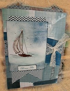 Tableau + set tampons Sail away