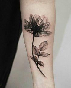 X-ray flower tattoo