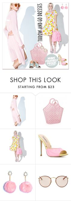 """""""Easy Peasy: Throw-and-Go Dresses"""" by betiboop8 ❤ liked on Polyvore featuring Untitled & Co, Melonhopper, Gianni Renzi, Ray-Ban, Halston Heritage and easypeasy"""