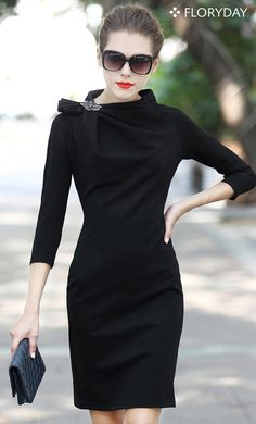 Wanna ace a presentation at work? This dress speaks elegance and success. It's perfect for a working girl on the go!