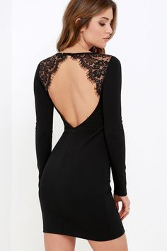 With a dress as coveted as the Tallest Tower Black Lace Bodycon Dress, you better get it fast! Darted, knit bodice has long sleeves and a rounded neckline that fastens with a button closure at back, amid floral eyelash lace. Sexy open back dips low to a hidden zipper while the bodycon skirt hugs your curves!
