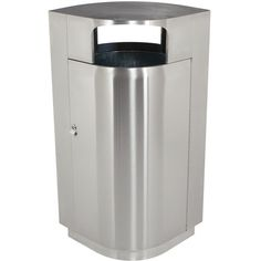 20 Gallon Indoor Metal Steel Trash Can | Dome Top Receptacles ...