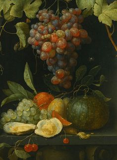 Joris Van Son Still Life with Fruit and Oysters 1654