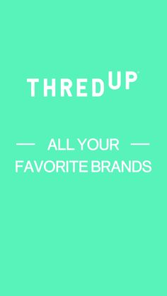 Treat yourself to the kind of quality and brand names that usually make your wallet nervous, at a price that's completely guilt-free. thredUP is your get-out-of-jail-free card to splurge impulsively for clothes and accessories you deserve. Welcome to the world's largest online thrift shop with 15K new arrivals. Every. Single. Day. Sign up today to start shopping your favorite brands (J.Crew, Anthropologie, LOFT, more!) at up to 90% off retail price.