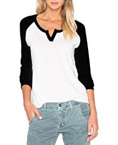 cb49481b3 Sarin Mathews Women's Casual Round Neck Loose Fit Short Sleeve T-Shirt  Blouse Tops