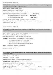 english worksheet the truman show movie activities pinterest worksheets english and. Black Bedroom Furniture Sets. Home Design Ideas