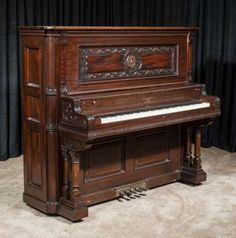 Wing & Son Style 29 Quarter Sawn Oak Upright Piano Piano Shop, Old Pianos, Upright Piano, Orchestra, Old Things, Cool Stuff, Antiques, Future, Style