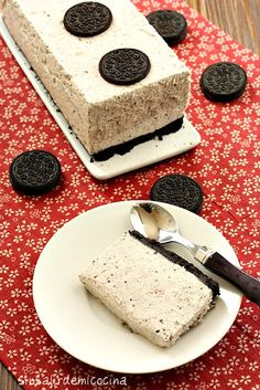 Oreo cheesecake. And that truly is just about the right serving size:)