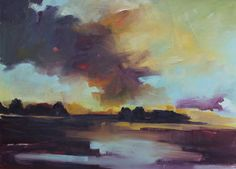 "Saatchi Art Artist Megan Jefferson; Painting, ""Midwest Spring"" #art jeffersonartstudio.com"