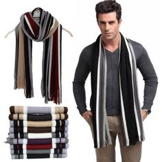 Cheap designer shawl, Buy Quality cotton scarf directly from China scarf with tassels Suppliers: Winter Designer Scarf Men Striped Cotton Scarf Female & Male Shawl Wrap Knit Cashmere Bufandas Striped Scarf With Tassels Herren Winter, Mens Winter, Designer Scarves, Striped Scarves, Cotton Scarf, Scarf Styles, Long Scarf, Ideias Fashion, Mens Fashion
