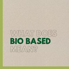 Do you know what the term 'bio based' means? First Choice, Do You Know What, Sustainability, Africa, Company Logo, Photo And Video, Instagram, Sustainable Development