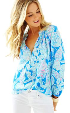 Elsa Top - Into The Deep | 41773521NM3 | Lilly Pulitzer
