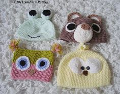Baby Animal Hats Crochet Patterns
