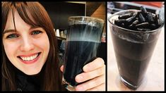 """Making A Black """"Goth Latte"""": New Coffee Trend Tonifier Son Corps, Proper Nutrition, Coffee Latte, Arabic Food, Charlize Theron, Active Ingredient, Pint Glass, How To Stay Healthy, Metabolism"""