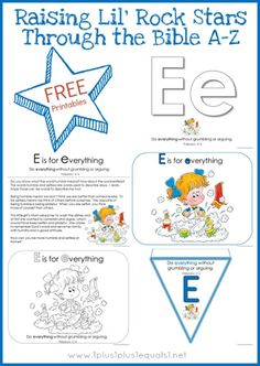 Free Bible Verse Printables ~ Letter E, Philippians 2:14 from Raising Lil Rock Stars Through The Bible A-Z