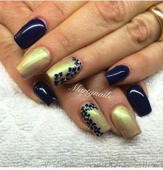 blu dorato glitter oro fiori