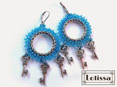 Lolissa sutasz Shibori, Crochet Earrings, Drop Earrings, Beads, Jewelry, Fashion, Beading, Moda, Jewlery