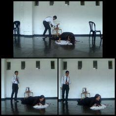 Escenas de la obra de teatro #MissJulie elegirla fue un reto, trabajarla todo un placer.