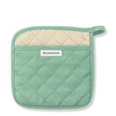 Williams-Sonoma Seasonal Potholder, Mint Blue