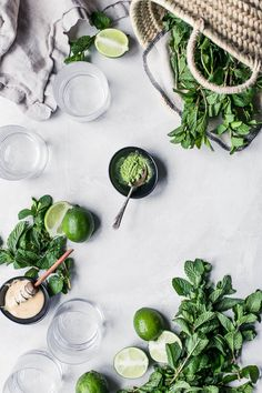 Mint Matcha Mocktail – CUOCO CONTENTO Food Photography Styling, Food Styling, Matcha, Superfoods, Wheat Grass, Greens Recipe, Go Green, Creative Food, Food Preparation
