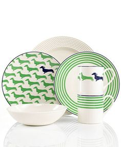 "kate spade new york ""Wickford"" Dinnerware Collection - Casual Dinnerware - Dining & Entertaining - Macy's"
