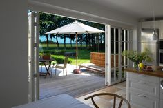 Timber Bi-fold Doors — Bi-fold Doors — Livingwood Windows Ltd Wooden Bifold Doors, Bifold French Doors, House Extensions, Patio Doors, Door Design, Extension Ideas, Windows, Outdoor Decor, Inspiration