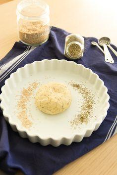 Pâte à Tarte Brisée #Vegan à l'Huile d'Olive, #Sésame + Origan
