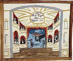 15 mai 1920, Création de PULCINELLA à Paris Décors Pablo Picasso